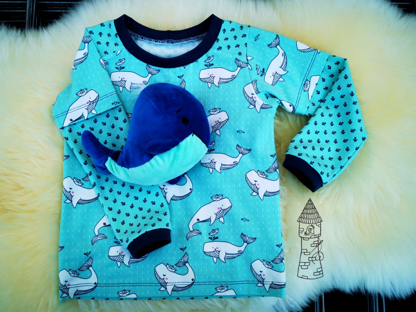 Stoffpaket Little Charly Wale und Anker