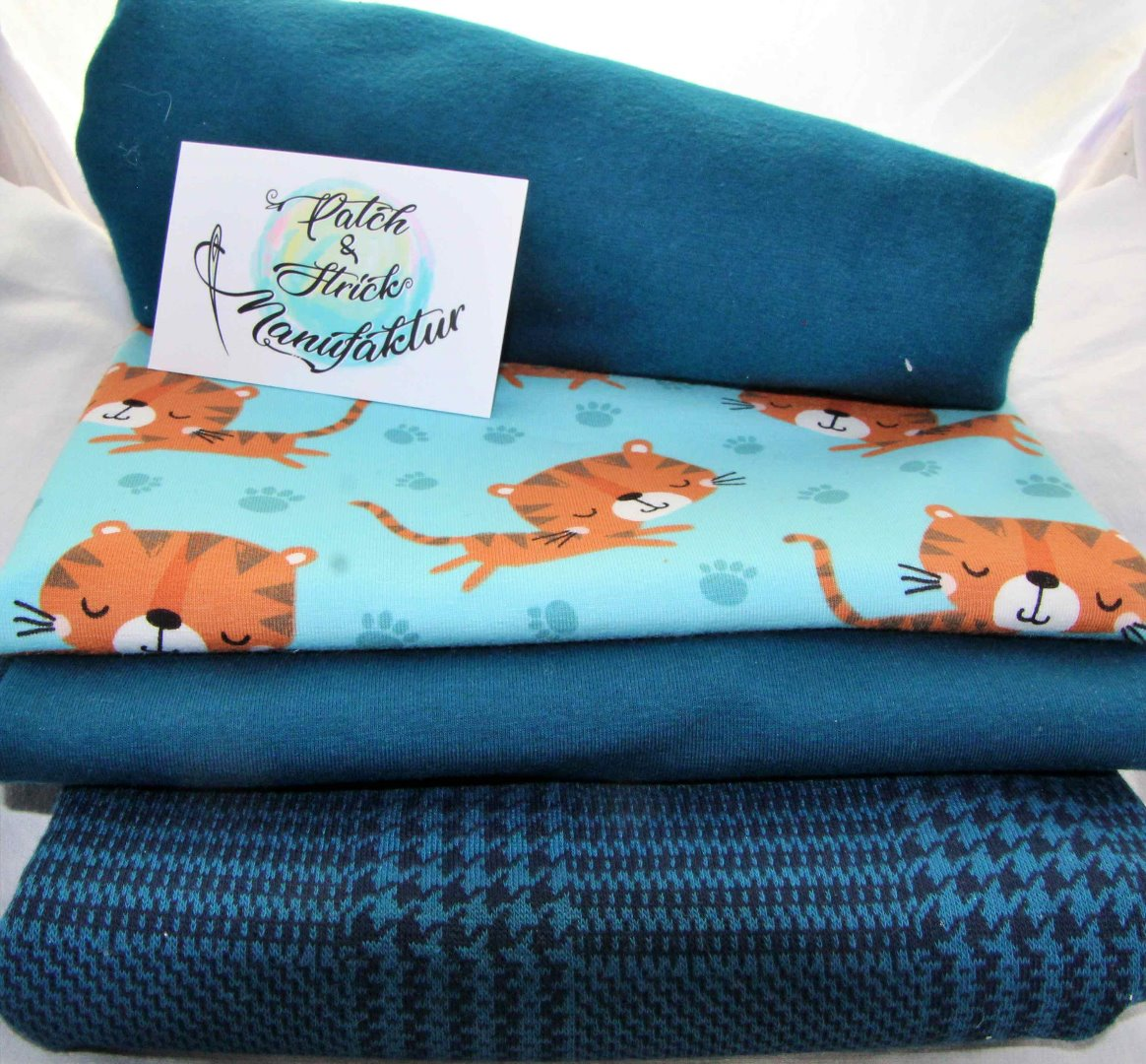 Stoffpaket Tiger Jamie in blau