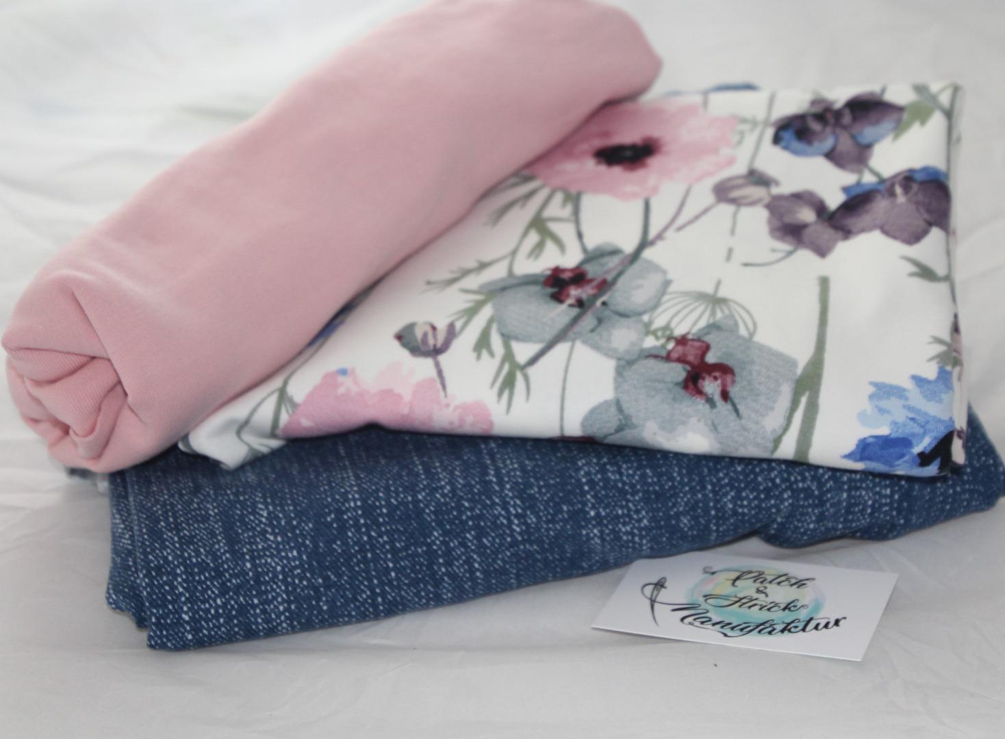 Stoffpaket Sommerwiese mit JeansJersey Qualität