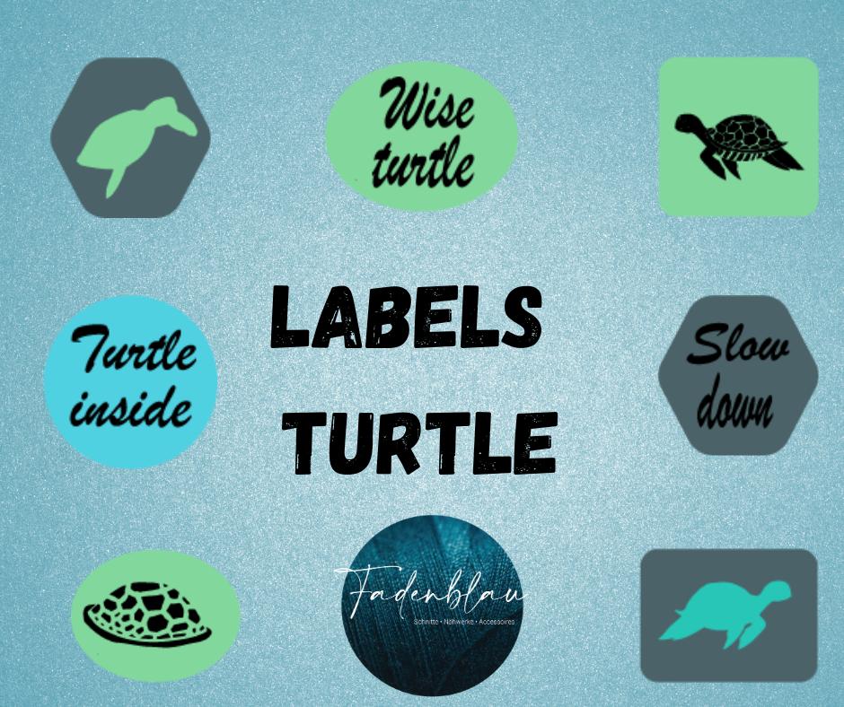 Plottdatei Seaside Turtels Labels