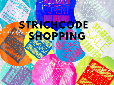 Plotterdatei Strichcode Shopping