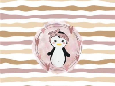 Panel Pinguine Rosa