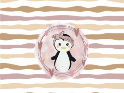 Panel Pinguine Rosa