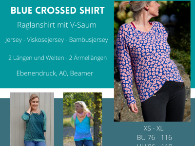 Ebook BlueCrossedShirt - Fadenblau