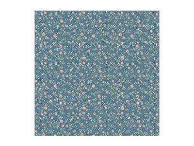rosa Blumen auf Blau Serie Zelie