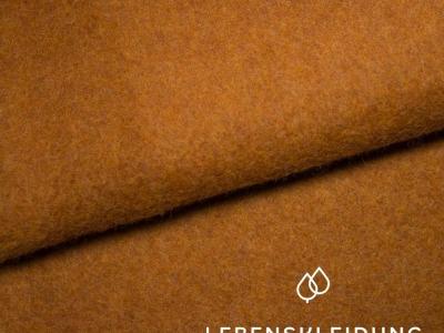 Bio Baumwollfleece Copper Marl Rost