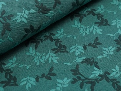 Bio-Relief-Jacquard Shiny Leaves smaragd