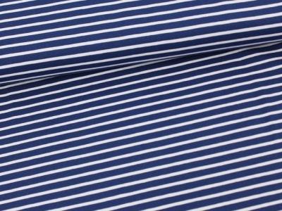 Streifen Jersey Marineblau/weiß