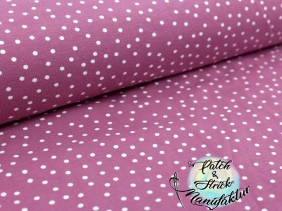 Biojersey Dotties - vintage rose