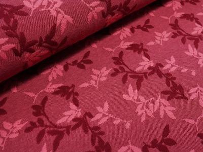 Bio-Relief-Jacquard Shiny Leaves rubin