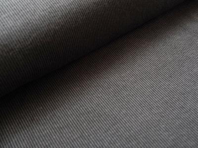 BioJacquard Rippenmuster grau -schwarz