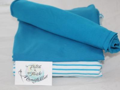 Stoffpaket Streifen in Blau Bio Qualität