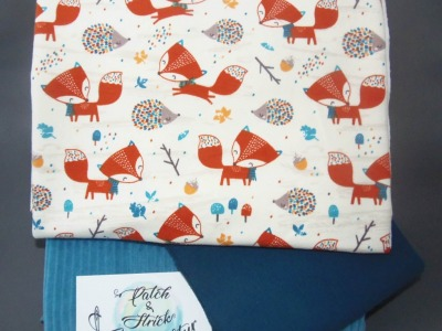 Stoffpaket Little Charly Fuchs und Igel