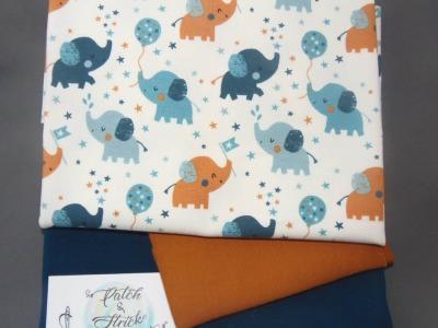 Stoffpaket Little Charly Elefantenbaby auf Vanille