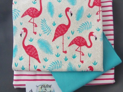 Stoffpaket Little Charly Flamingos