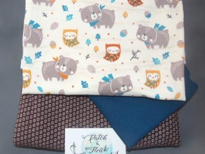 Stoffpaket Little Charly Bär und Eule