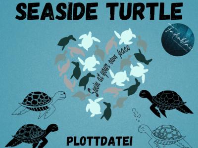 Plottdatei Seaside Turtels - Fadenblau