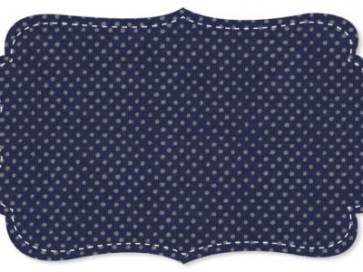 Biojersey Punkte Grau auf Blau