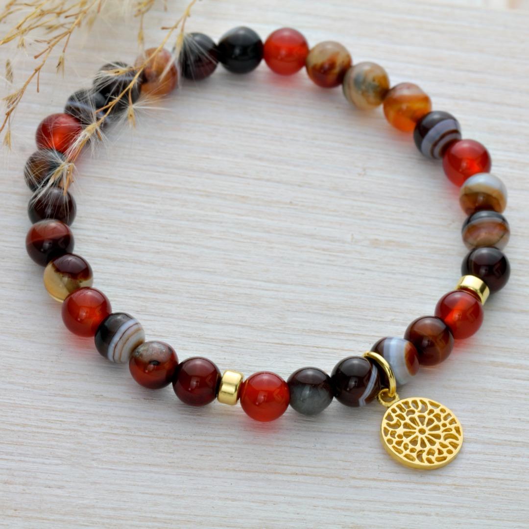Karneol-Armband mit Mandala 3