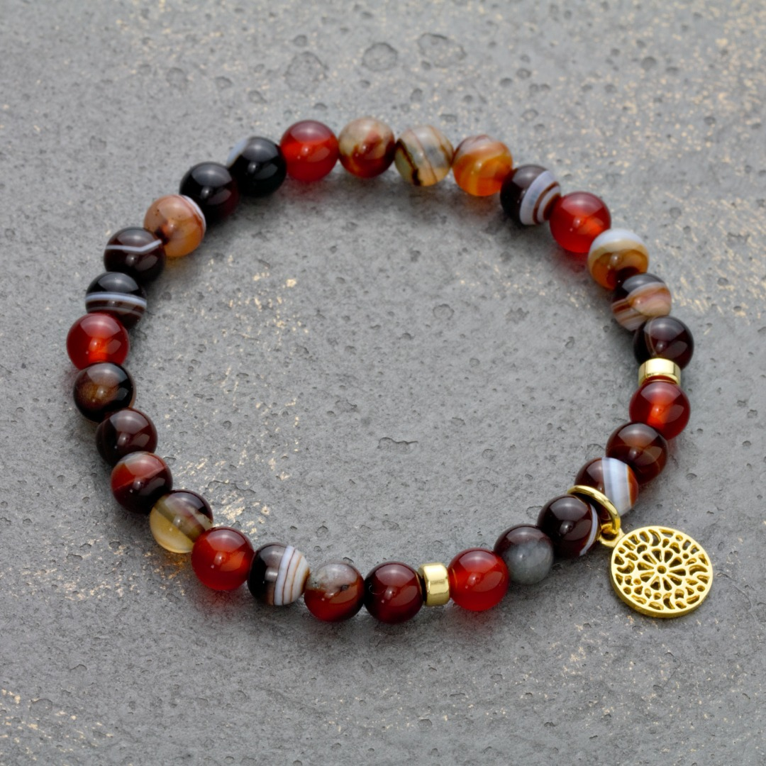 Karneol-Armband mit Mandala 6