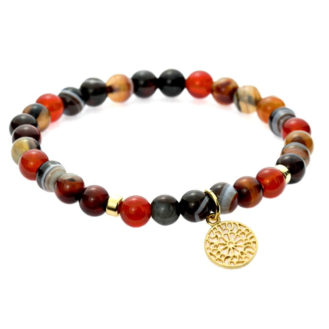Karneol-Armband mit Mandala