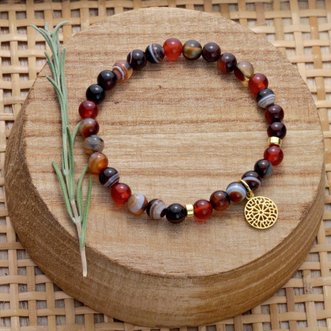 Karneol-Armband mit Mandala 5