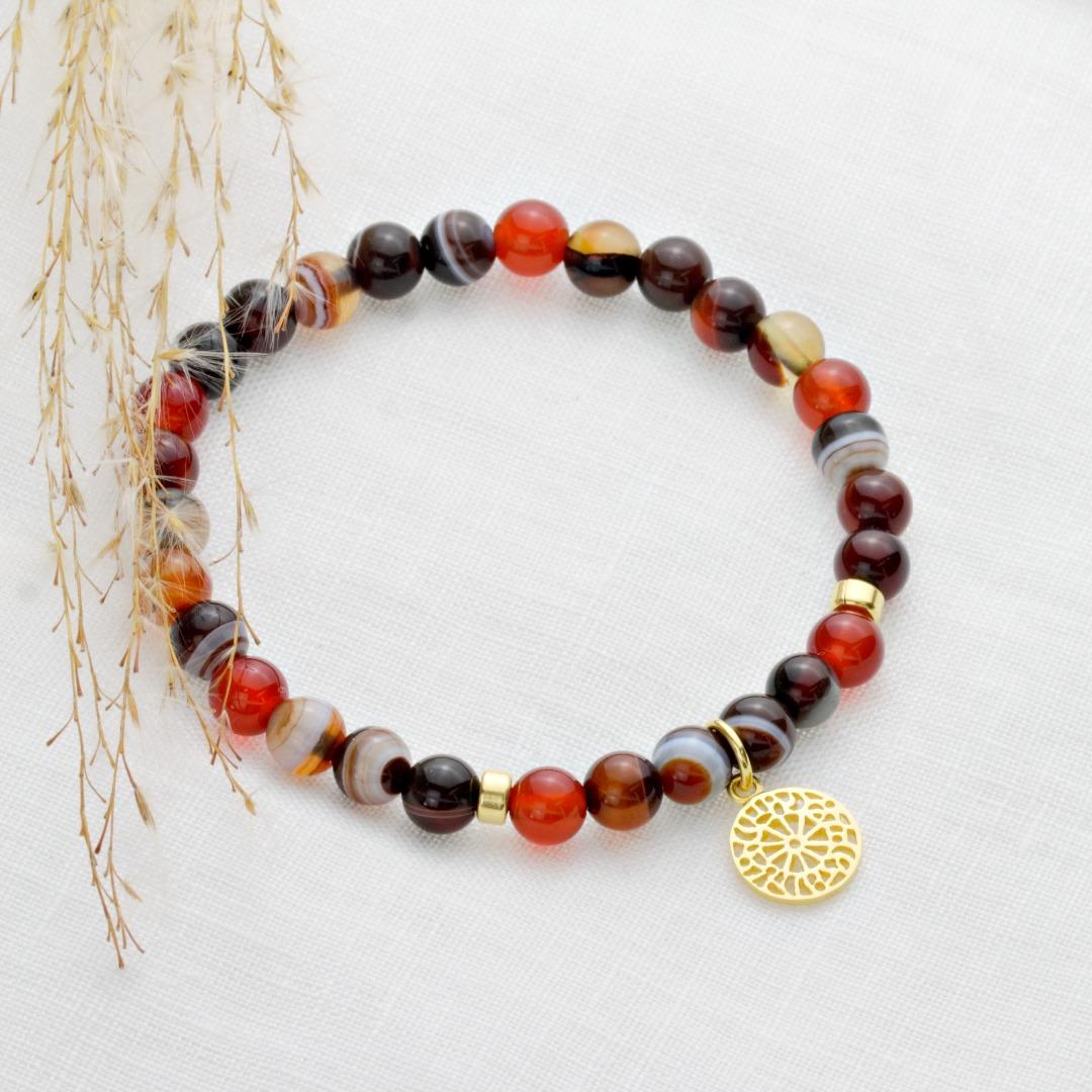 Karneol-Armband mit Mandala 4