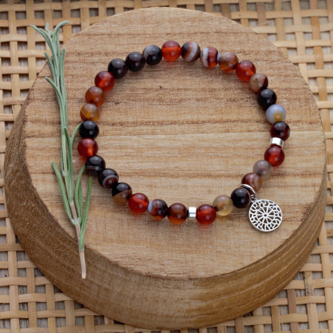 Karneol-Armband mit Mandala 7