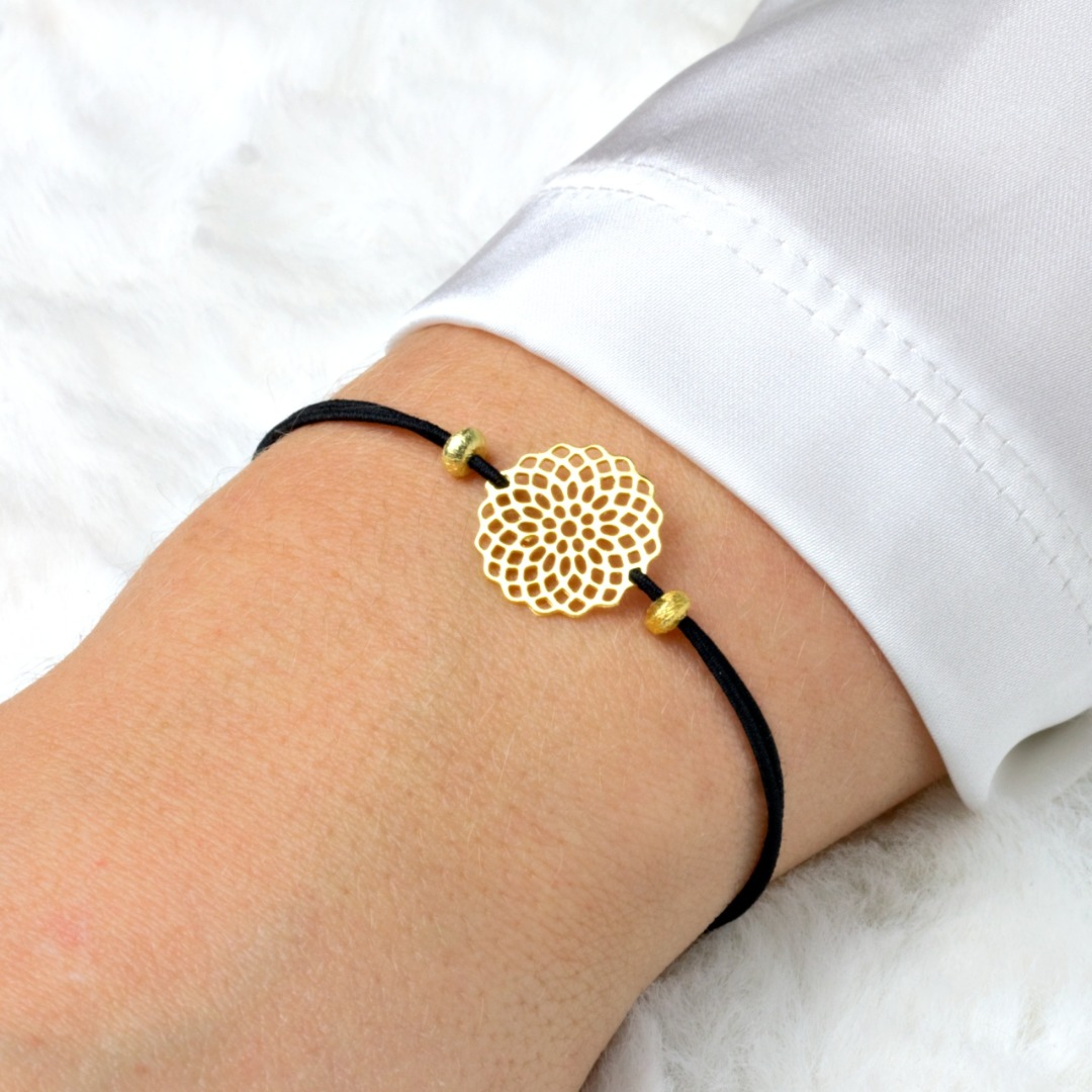 Filigranes Armband mit einem Mandala echt