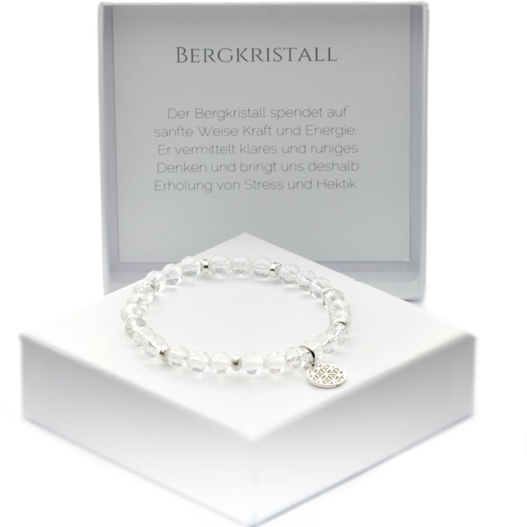 Armband aus echtem Bergkristall Steinqualität AAA