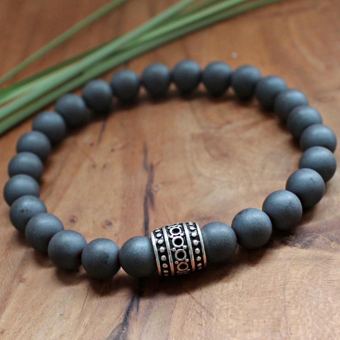 Armband Herren aus Hämatit perfekte Geschenk