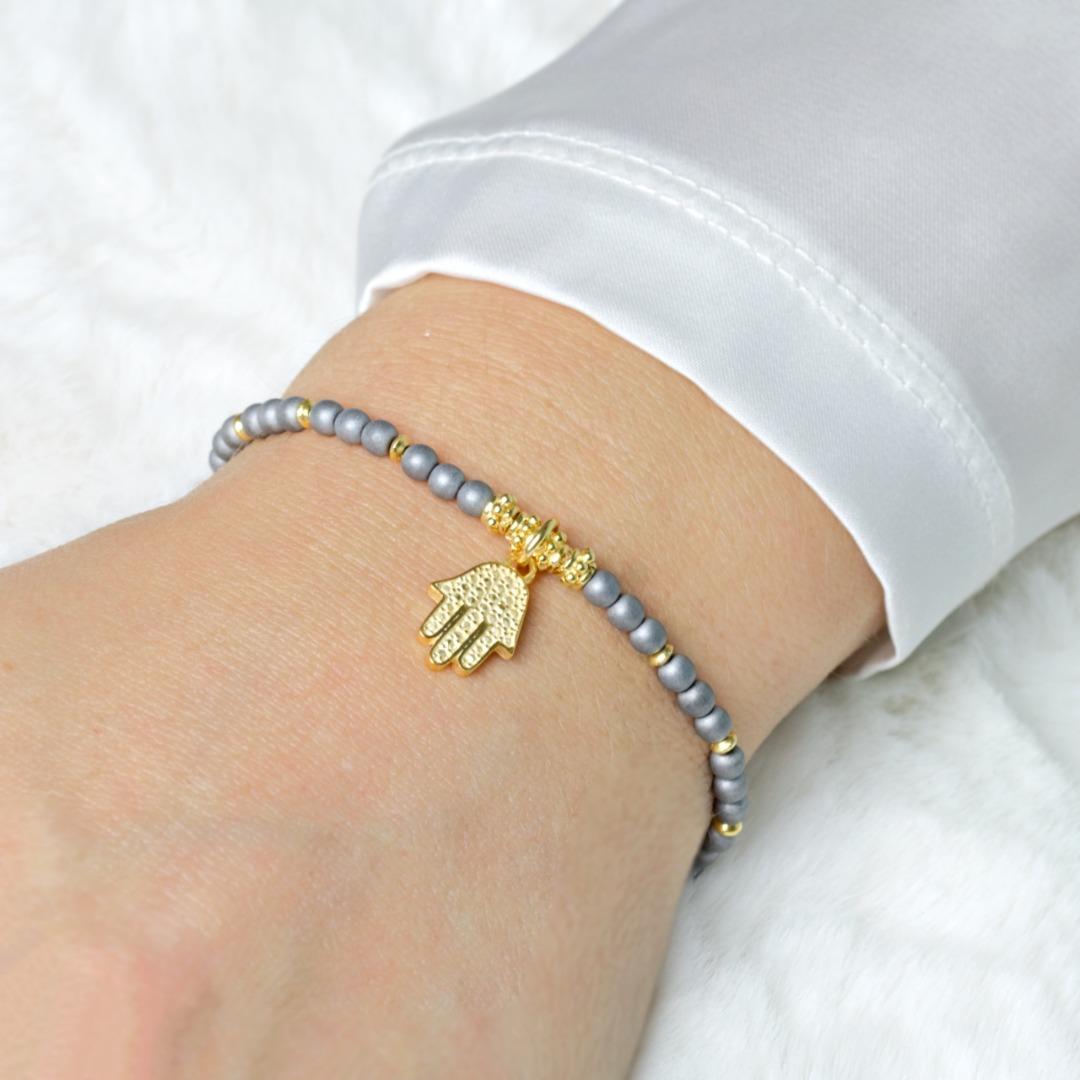 Armband Damen aus Hämatit filigran 925er