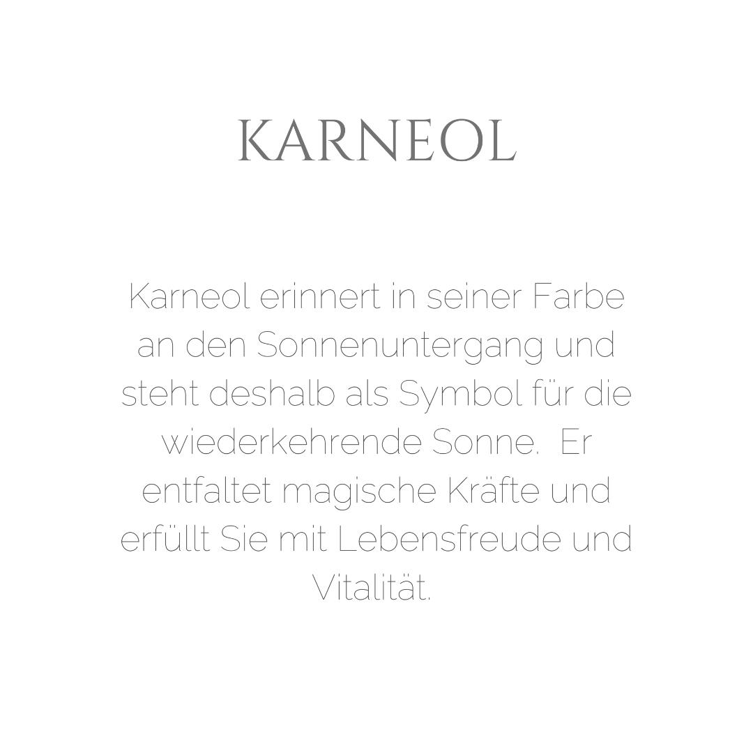 Karneol-Ohrhänger mit Mandala Silber vergoldet 7