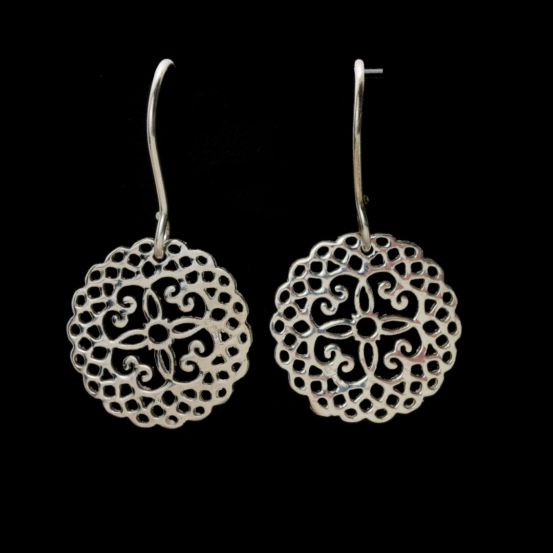 Ohrhänger Mandala echt Silber oder Silber