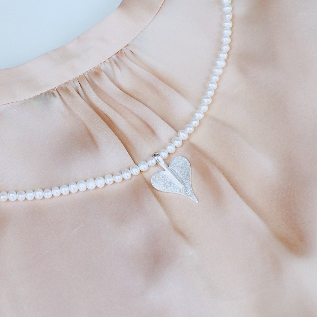 Perlenkette aus echten Süßwasser-Perlen mit einem