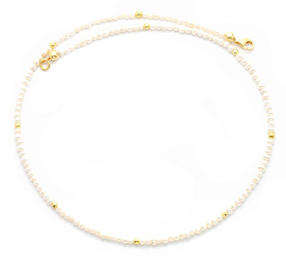 Feine Perlenkette aus echten Süßwasser-Perlen 3