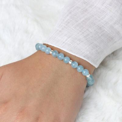 Armband aus Aquamarin schönes Geschenk zum
