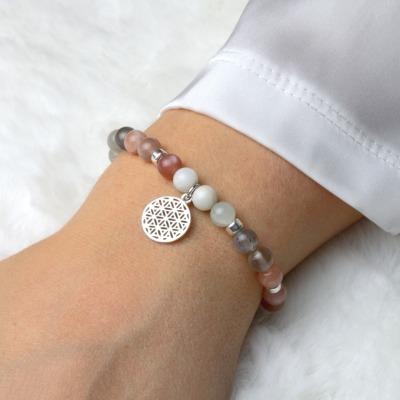 LEBENSBLUME Armband Frauen aus echtem MONDSTEIN
