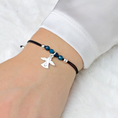 Schutzengel Armband elastisches filigranes Armband echt