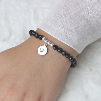 Armband aus schwarzem Turmalin Schörl Anhänger