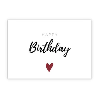 Grußkarte - Happy Birthday