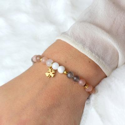 Glücks-Armband Damen aus echtem Mondstein mit