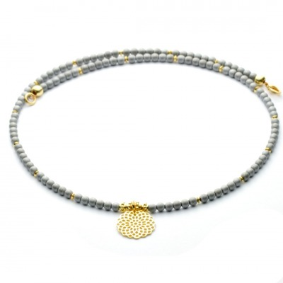 Filigrane Halskette für Damen aus Hämatit