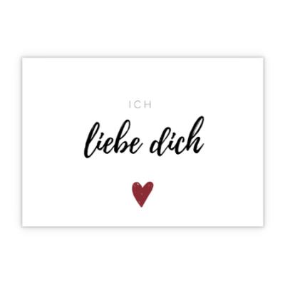 Grußkarte - Ich liebe dich
