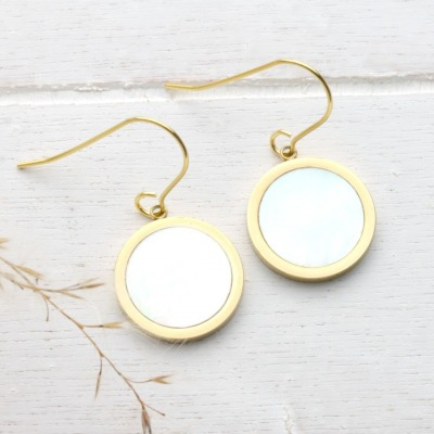 Ohrhänger Silber vergoldet mit Anhänger echtes
