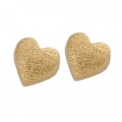 Mini Herz-Ohrstecker 925er Silber oder Karat