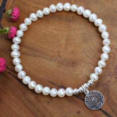 Armband Damen aus echten Perlen mit