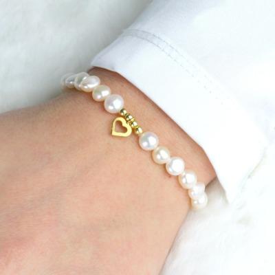 Armband aus echten Perlen mit kleinem