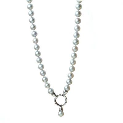 Lange Perlenkette aus echten Süßwasser-Perlen in