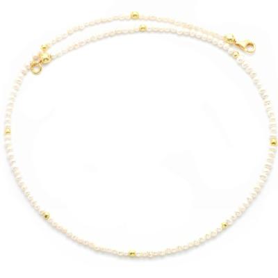 Feine Perlenkette aus echten Süßwasser-Perlen Feine